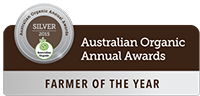 Australian Organic Annual Awards Farmer of the Year Silver