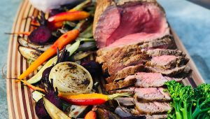 Delicious Dandaragan Organic Beef organic roast beef platter