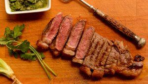 Cooked then sliced Dandaragan Organic Beef steak