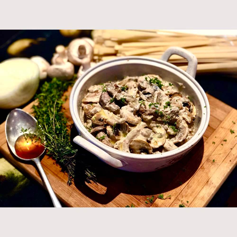Beef Stroganoff made with Dandaragan Organic Beef