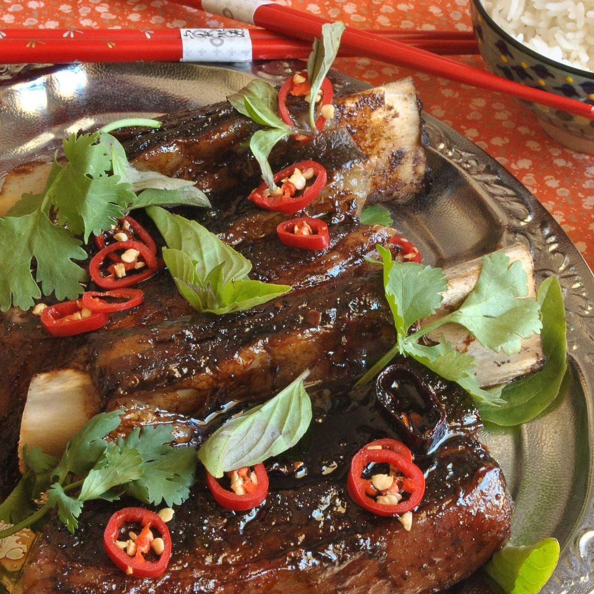 Tamarind Glazed Beef Ribs