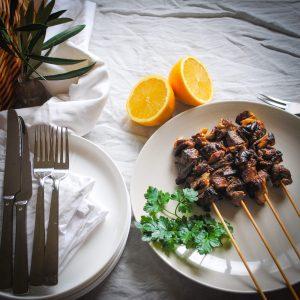 Dandaragan Organic Beef BEEF, MUSHROOM + AGRODOLCE SKEWERS